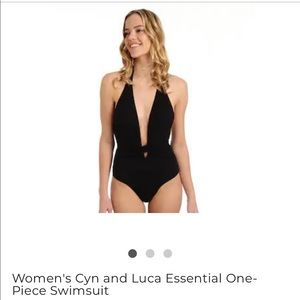 Cyn and Luca one piece plunging sexy bathing suit